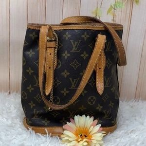 Authentic Louis Vuitton Monogram Bucket PM Bag